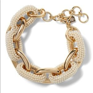 NWT beaded pearl link bracelet by banana republic